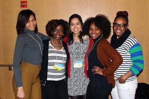 From L to R:  Rachael Cheek, Sarai Nwagbaraocha, Anupa Gewalli, Maya McCallister, and Kayla Thomas are all going to Cameroon with GlobeMed in May